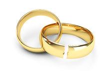 broken rings representing divorce